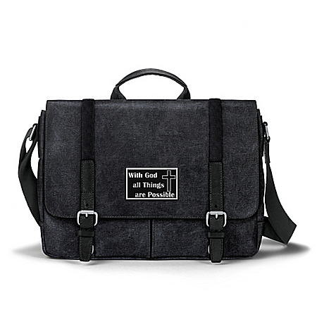 All Things Are Possible Men's Washed Canvas Messenger Bag
