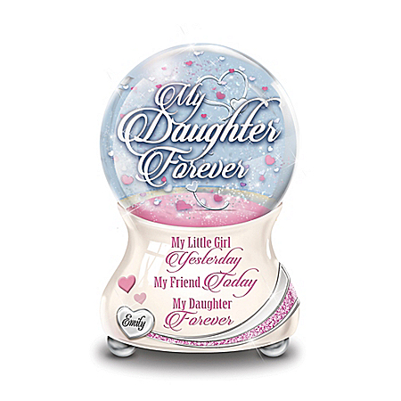 My Daughter So Loved Personalized Glitter Globe – Personalized Jewelry