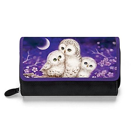 Kayomi Harai Owl Always Love You Trifold Women's Wallet