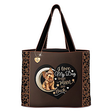 I Love My Dog To The Moon And Back Tote: Choose Your Breed