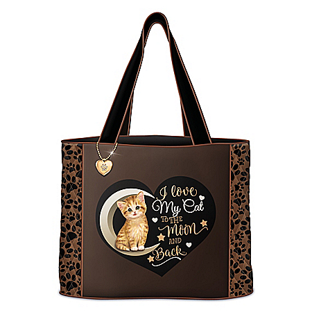I Love My Cat To The Moon And Back Tote: Choose Your Cat