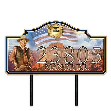 John Wayne: Western Welcome Personalized Address Sign