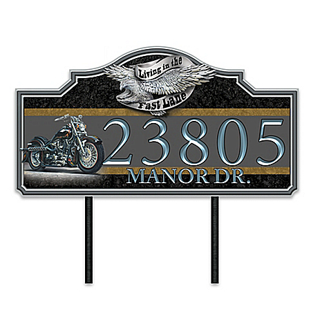 Marc Lacourciere Ready To Ride Personalized Address Sign