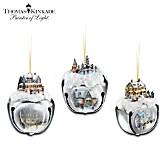 Thomas Kinkade Sleigh Bells Ornaments: Set Of Three