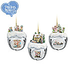 Precious Moments Christmas Sleigh Bells Ornaments: Set Of Three
