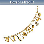 Kiss The Cook Personalized Charm Bracelet