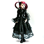 16-Inch Vinyl Ball-Jointed Victorian Gothic Doll: Dark And Defiant Delilah Noir