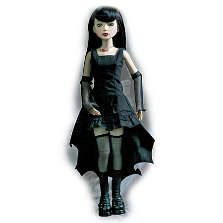 16-Inch Vinyl Ball-Jointed Vampire-Costumed Doll: Once Bitten, Twice Shy Delilah Noir