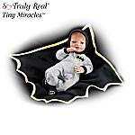 Tiny Miracles Hero In Training BATMAN Baby Boy Doll: Realistic Lifelike Vinyl Baby Doll