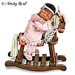 So Truly Real Doll With Wooden Rocking Horse: Great In Spirit