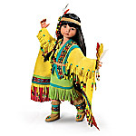 Native American-Inspired Ball-Jointed Doll: Tiny Fancy Shawl Dancer