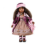 Aisha: 22 Inch Porcelain Doll In Vintage-Style Clothing