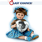 Blue Suede Shoes Elvis Inspired Baby Doll