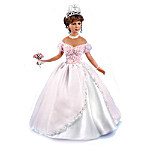 La Quinceanera Porcelain Doll With Personalized Crystal Birthstone