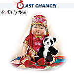 Mei Mei: 22 Lifelike Asian Baby Doll With Detailed Costuming And Dragon Slippers