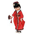 12-Inch Japenese Doll Dressed In Traditional Kimono: Yoshilla