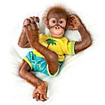 Ollie 19 Collectible Orangutan Child Doll