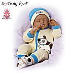 Marcus African-American Breathing Baby Boy Doll