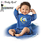 Lifelike Poseable Baby Boy Doll: Night Night Kisses