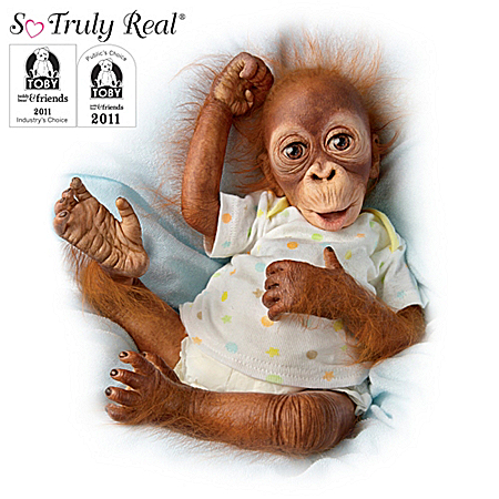 "Baby Babu: 16"" Collectible Orangutan Baby Doll"