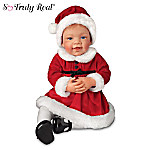 Avery's First Christmas Realistic Baby Girl Doll