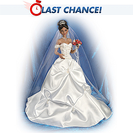 Ashton Drake Porcelain African American Bride Doll Ebay