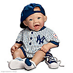 New York Yankees #1 Fan: 22-Inch Realistic Lifelike Baby Doll