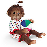 Ethel's Day At The Beach Monkey Doll