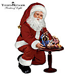 Thomas Kinkade Santa Doll And Nativity Set