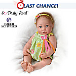 Touch-Activated Lifelike Baby Doll: Butterfly Kisses