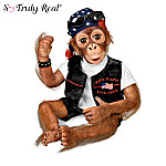 Ride Hard, Live Free Biker Monkey Child Doll