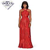 Michelle Obama Inaugural Ball Portrait Doll