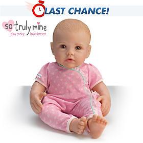 So Truly Mine Baby Doll: Blonde Hair, Brown Eyes