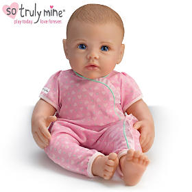 So Truly Mine Baby Doll: Light Brown Hair, Blue Eyes