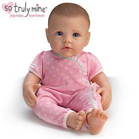 So Truly Mine Baby Doll: Brown Hair, Blue Eyes