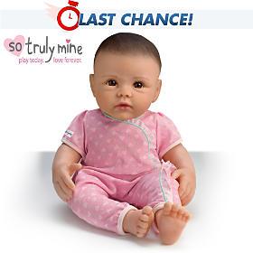 So Truly Mine Baby Doll: Black Hair, Brown Eyes