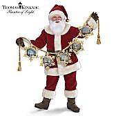 Thomas Kinkade Light Up The Season Santa Doll