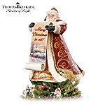 Thomas Kinkade Santa Tree Topper