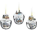 Thomas Kinkade Sleigh Bells Christmas Tree Ornaments