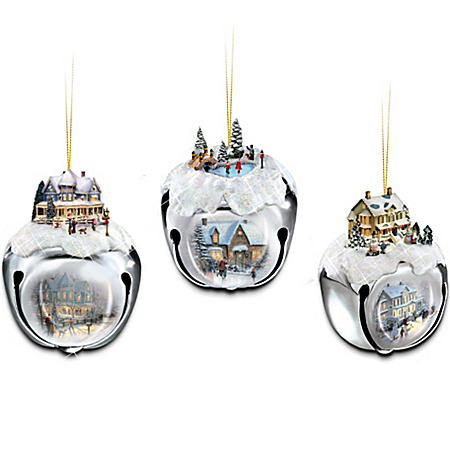 Thomas Kinkade Sleigh Bells Christmas Tree Ornaments