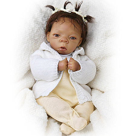 Tiny Miracles Destiny Vinyl Lifelike African American Collectible Baby Doll