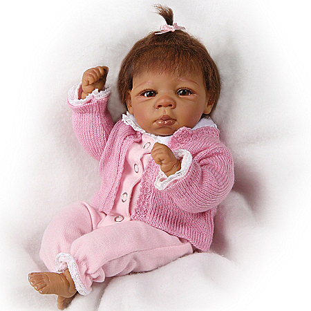 Tiny Miracles Kendall Vinyl Lifelike African American Collectible Baby Doll
