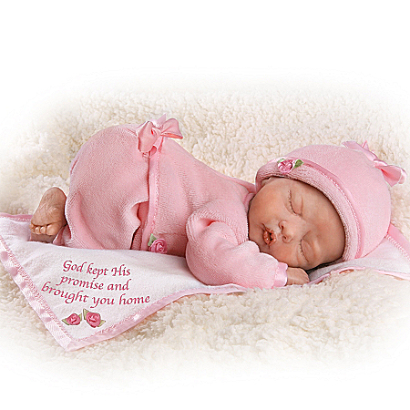 God Kept His Promise And Brought You Home - Lifelike Newborn Baby Doll: So Truly Real