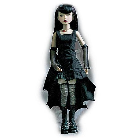 16-Inch Vinyl Ball-Jointed Vampire-Costumed Doll: Once Bitten, Twice Shy Delilah Noir