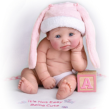 It's Not Easy Being Cute Resin Doll: Miniature Baby Doll
