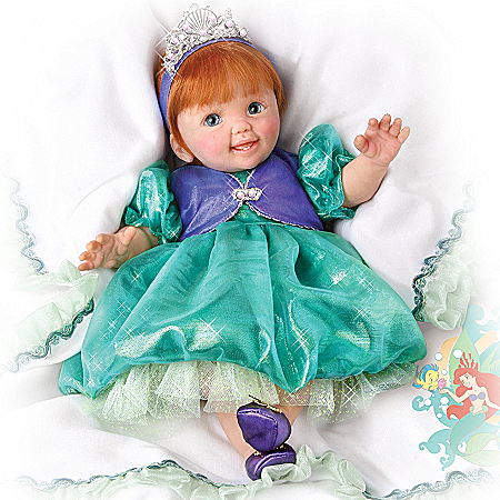 Life Like Baby Dolls Disney's Oceans Of Dreams: Lifelike Musical Baby Doll in Princess Ariel Outfit