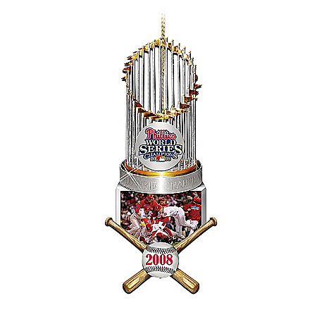 2008 World Series Champions Philadelphia Phillies Collectible Trophy Ornament