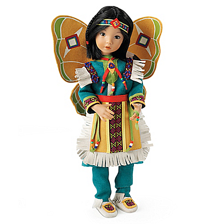 Beautiful Butterfly Dancer Native-American Inspired Child Doll By Dianna Effner