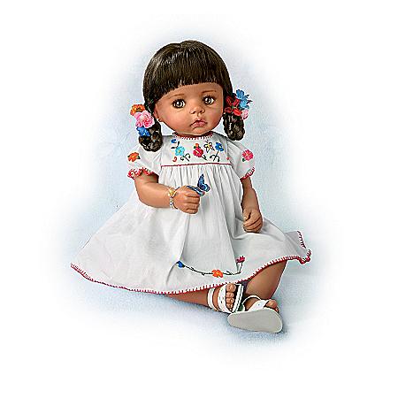 Sofia La Mariposa Hispanic Baby Doll In Authentic Dress