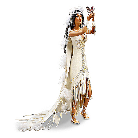 Fine Porcelain Bride Doll: Love Takes Wing
